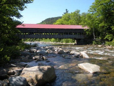This is a covered bridge over the Swift River.  Apparently Rocky River was already taken.