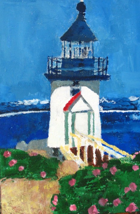 Yvette Prefontaine, Lighthouse, acrylic on canvas