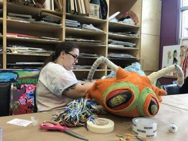 Bonnie working on Brodi