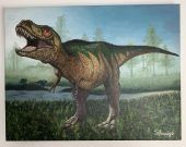 T-Rex - Oil on canvas