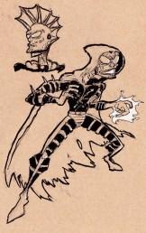 "A superhero of my onw creation called ""Blastalisk"""