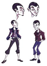 """Character designs for Vince from my comic """"The Wrong Girl"""""""