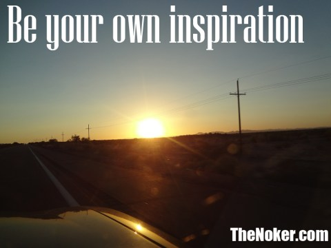 Be your own inspiration. Sunset over Yuma, Arizona
