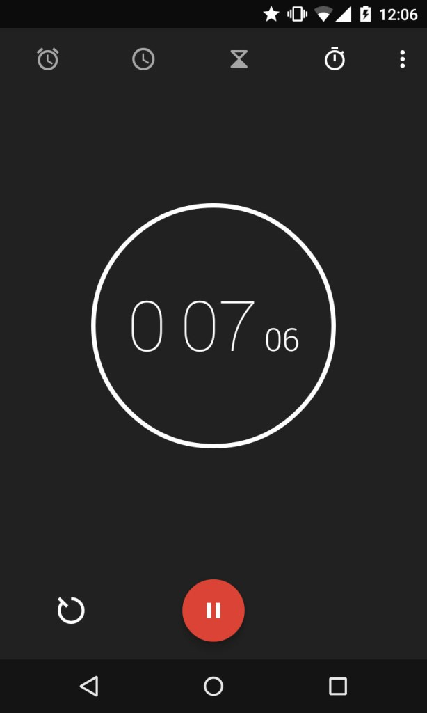 Screenshot of the timer app on my phone because why not.