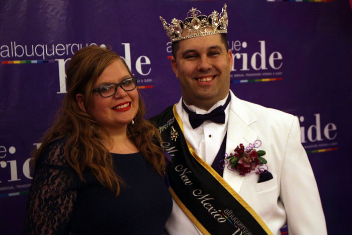 Hannah with Mr. New Mexico Pride 2016 Tre Brewbaker.