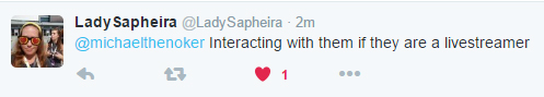 Lady Sapheira on supporting your YouTuber when they live stream!
