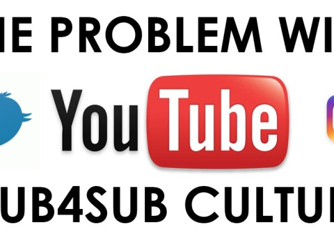 The problem with sub4sub culture: the most popular method of growing small YouTube channels quickly and gaining a following (that's ultimately under-engaged, under-appreciative, and generally not even in your niche).
