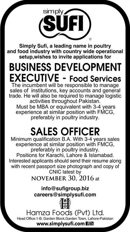 Simply Sufi Pakistan Jobs 2021 Business Development Executives Sales Officers Apply Online Applying Procedure Terms and Conditions