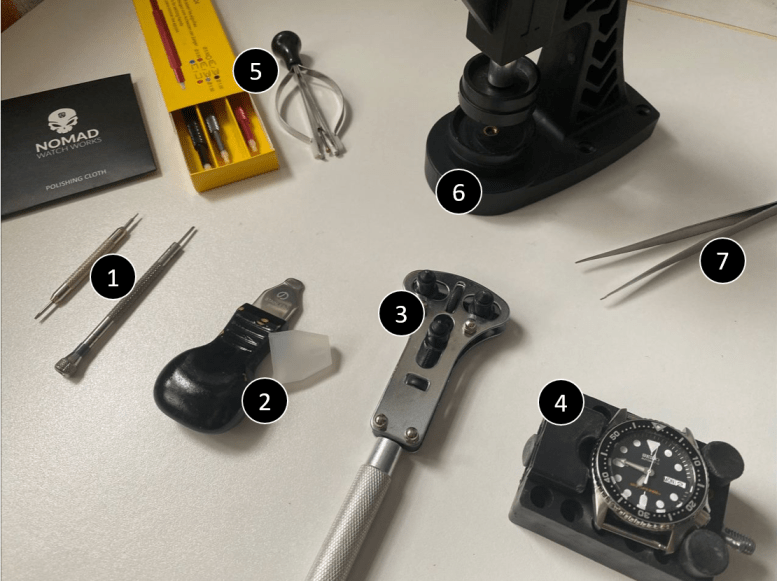 Watch tools used for watch modification