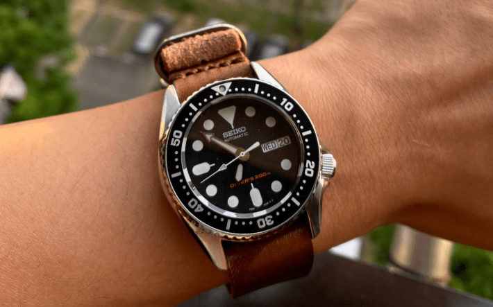 Single Pass, 3-Ring NATO Military, 103 Style II on SKX013