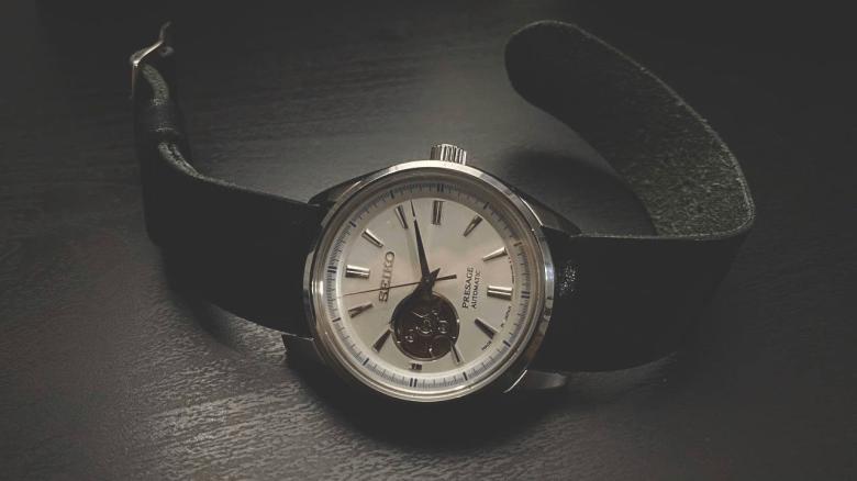 Adjustable One-Piece Leather Watch Strap, Vintage Nero, 22mm