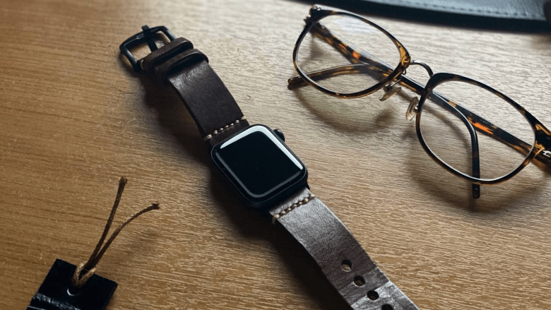 Cozy Handmade  Vegetable Tanned Leather Apple Watch Strap
