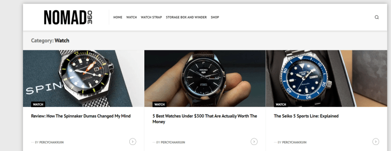 Nomad360 - A blog reporting affordable watches