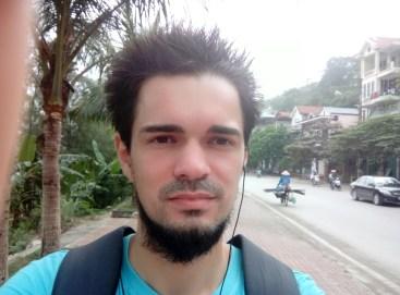 Selfie in Ha Long City, Vietnam