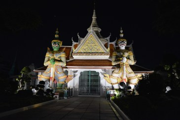 Temple at night in Bangkok, Thailand