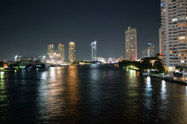 City view at night in Bangkok, Thailand
