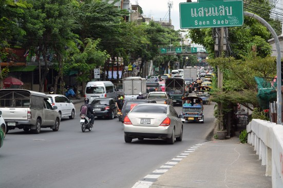 City streets in Bangkok, Thailand