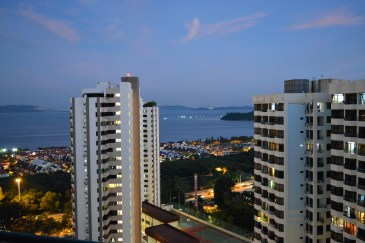 Living room view from Sunny Ville Condominium, Penang, Malaysia