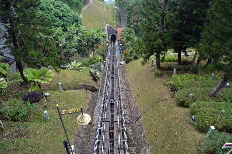 Funicular railway up to Penang Hill