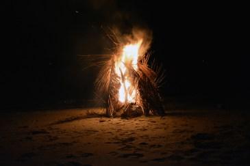 Beach bonfire - Tuba Island, Wild Pasir Panjang