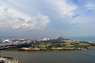 View from Marina Bay Sands's Observation Deck, Singapore