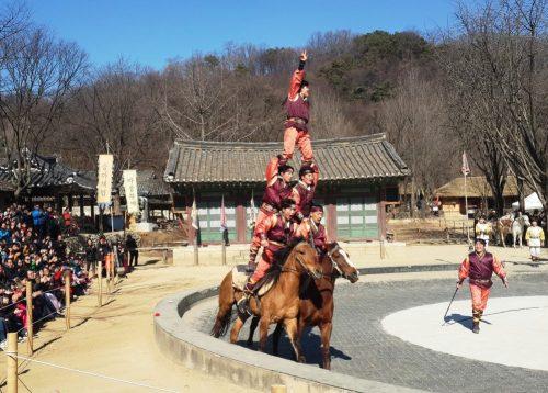Lễ hội đua ngựa được tái hiện ở Làng dân tộc Yong-in