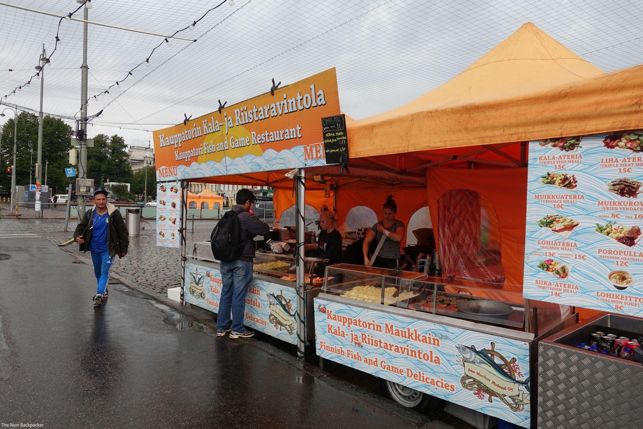 Helsinki Market Food Stall
