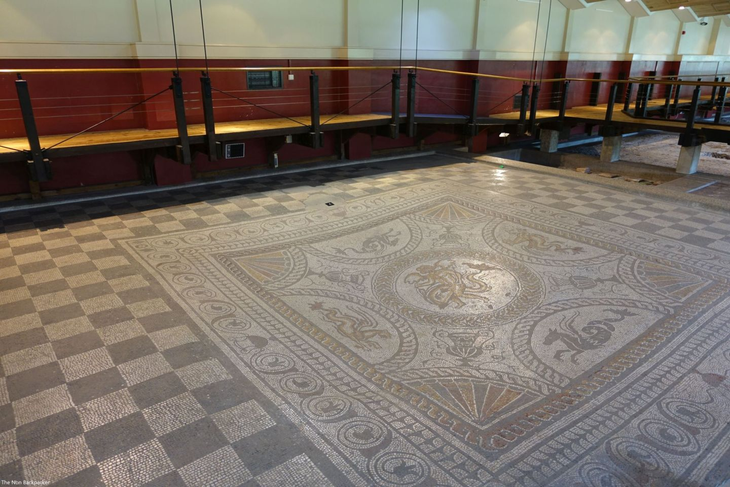 The largest mosaic at Fishbourne