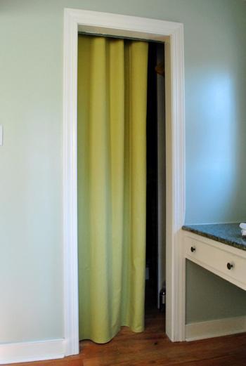 how to make a no sew closet curtain