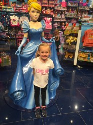 We went shopping for new school shoes- and of course ended up in the Disney store.