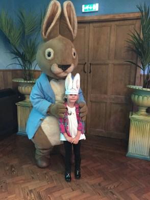 We went for breakfast with Peter Rabbit,