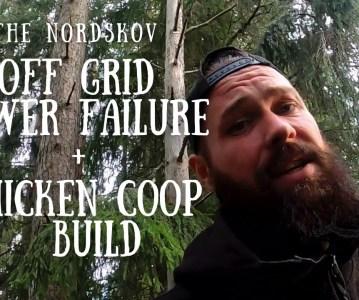 Off Grid power failure | Chicken coop build