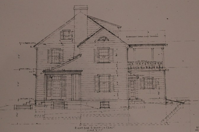 Original drawing of one of the houses from the 1920s.