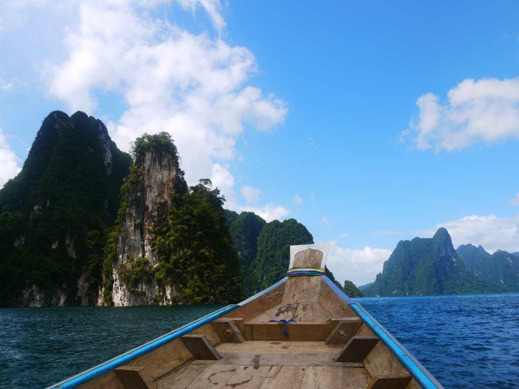 Khao Sok lake one day tour boat