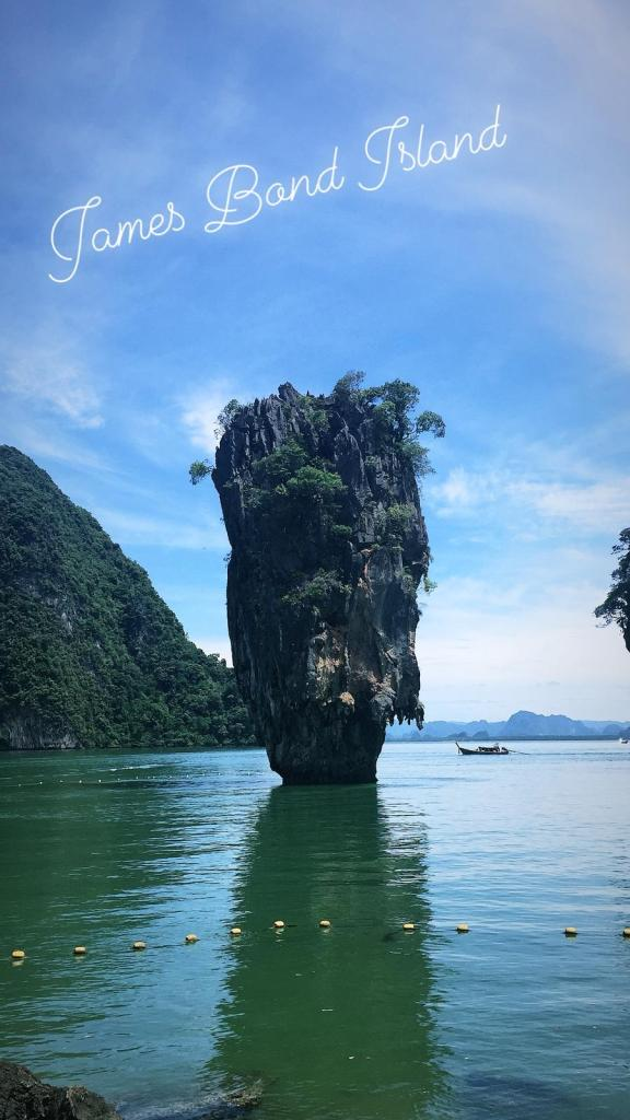 james bond island movie tour rock