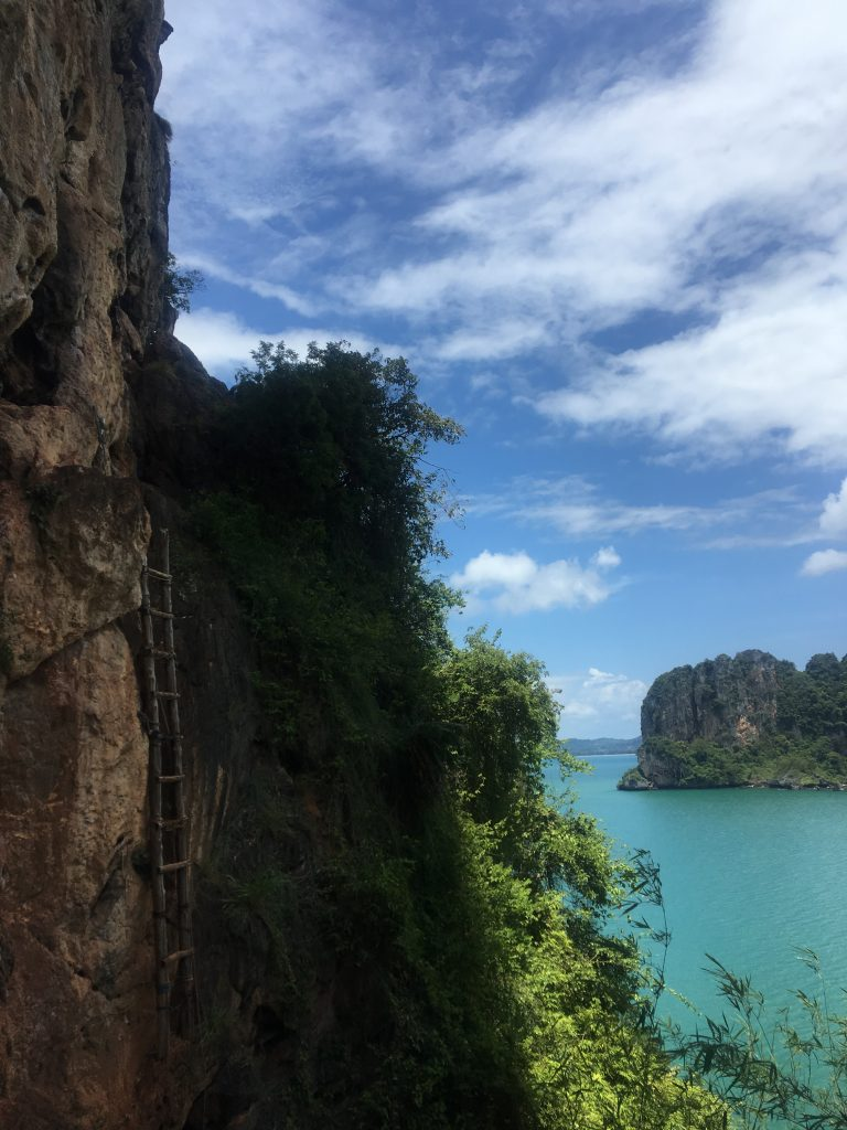 stunning Railay beach viewpoint, railay beach hike, railay beach, railay beach hotels, railay beach resorts, railay beach rock climbing, railay beach climbing, railay beach map, railay beach lagoon, krabi railay beach