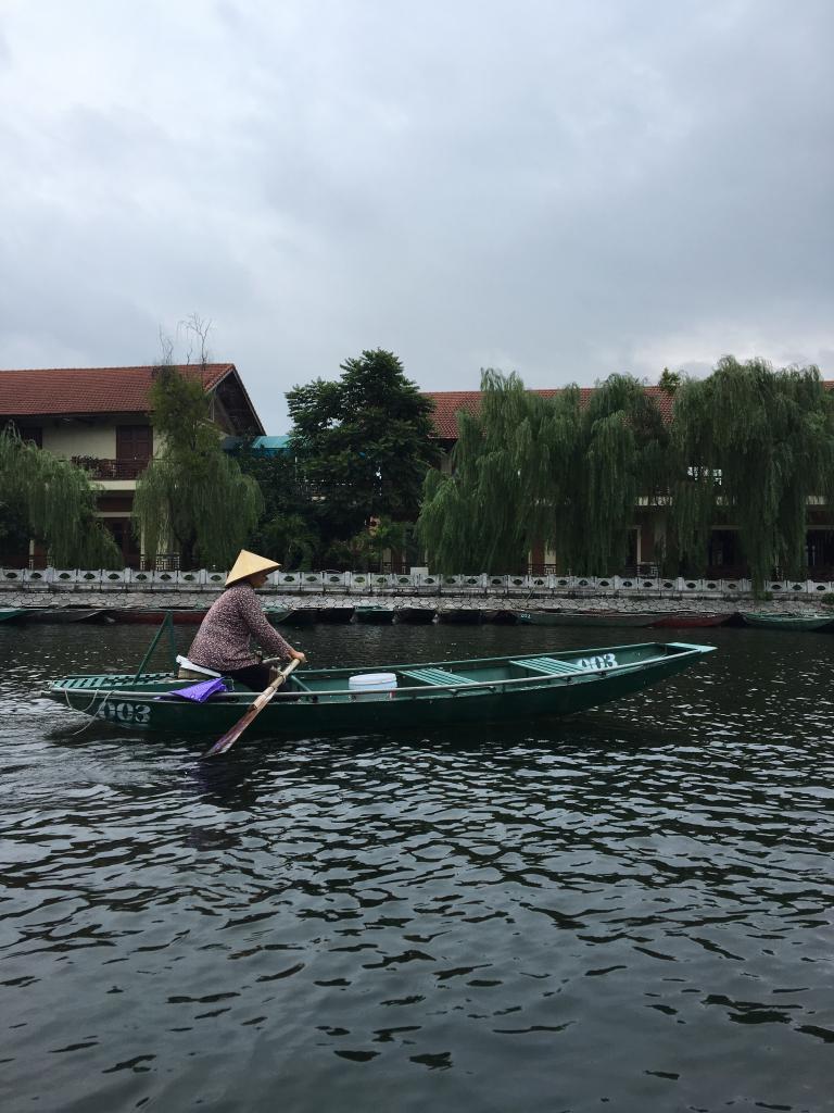 boat ride in Ninh Binh