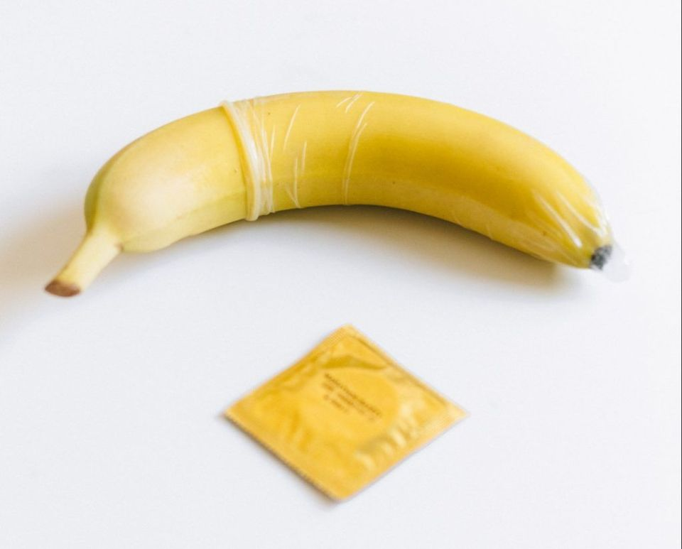 A Condom on a Banana for sex education