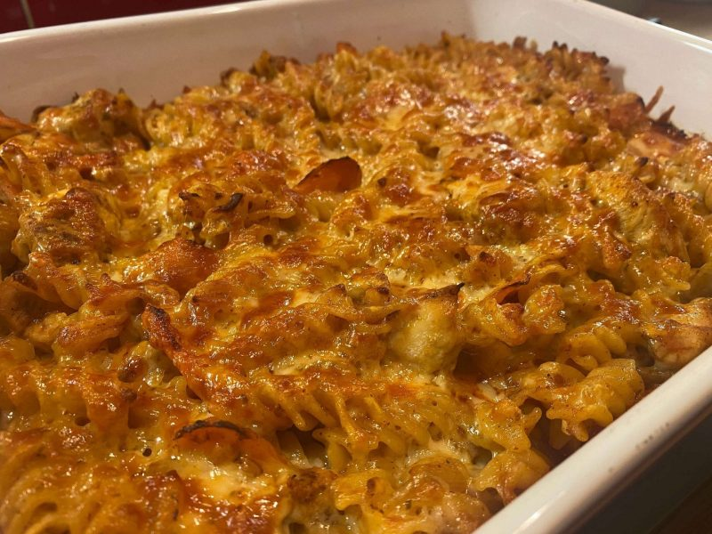 Chicken Tikka Pasta Bake