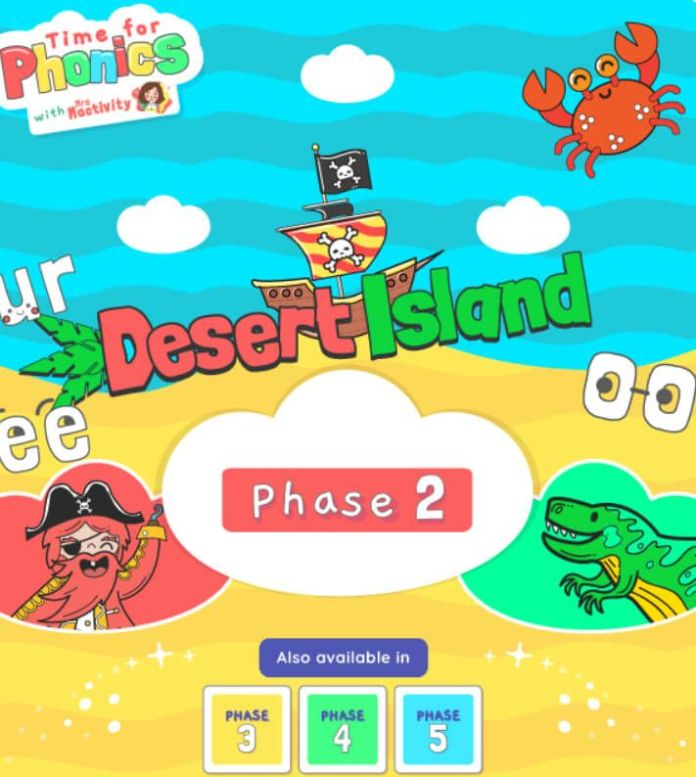 Time For Phonics Desert Island Screenshot
