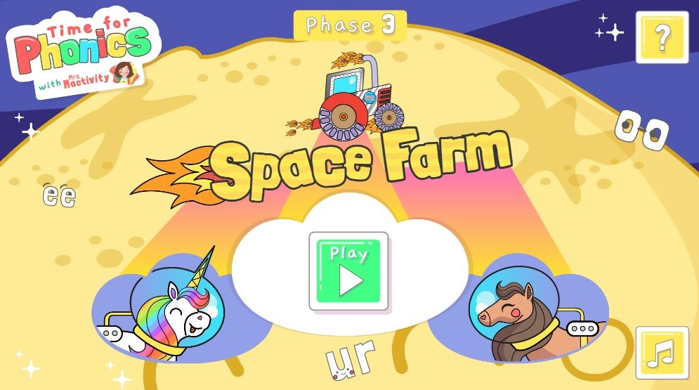 Time For Phonics Space Farm
