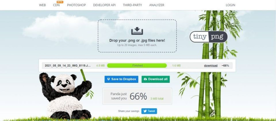 Tinypng Feature Screenshot