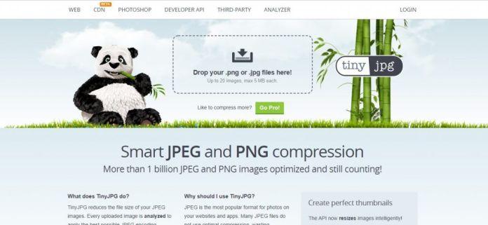 Tinypng Homepage Screenshot