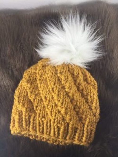 f090713cf5c Spiral Beanie Knit Pattern - The Northern Moose