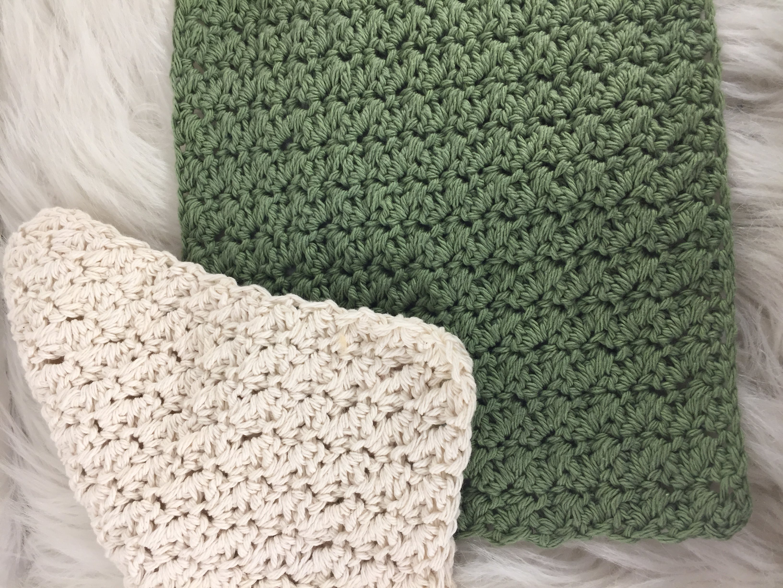 Textured Crochet Dishcloth Northern Moose