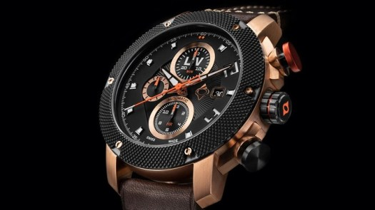 LIV rose gold chrono valjoux 7750