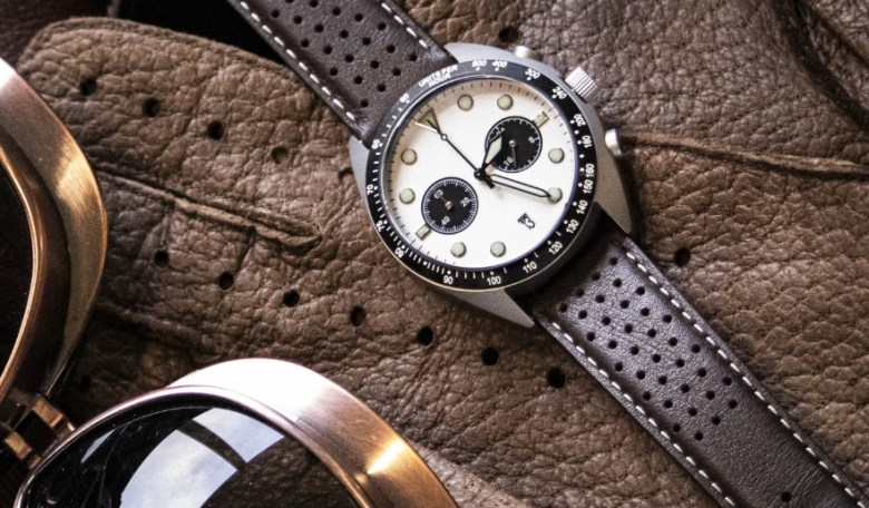 enosken drive chronograph white dial made in belfast