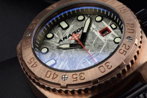aragon parma bronze dial and crystal