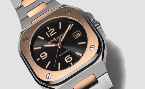 bell and ross BR05-Steel-gold detail