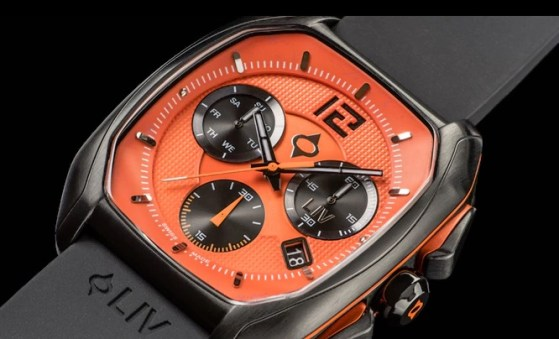 LIV rebel orange dial quartz